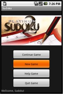 Giao diện game sudoku